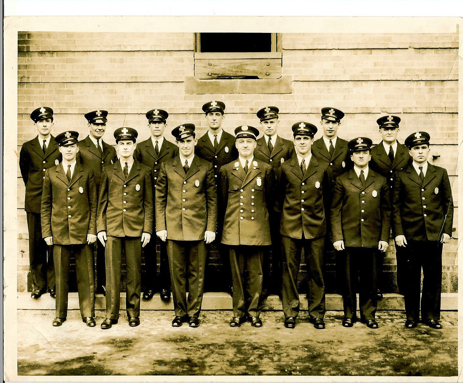 Boston Firefighters - Mike Power (2nd Row)